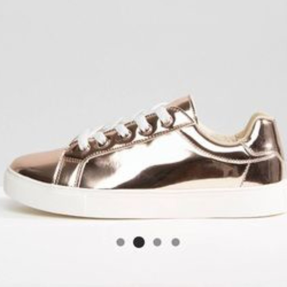 wholesale dealer 574f7 fe350 Truffle Metallic Sneaker rose gold